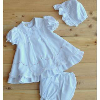 Vestido - Batica 3 Piezas Bordado Rococo