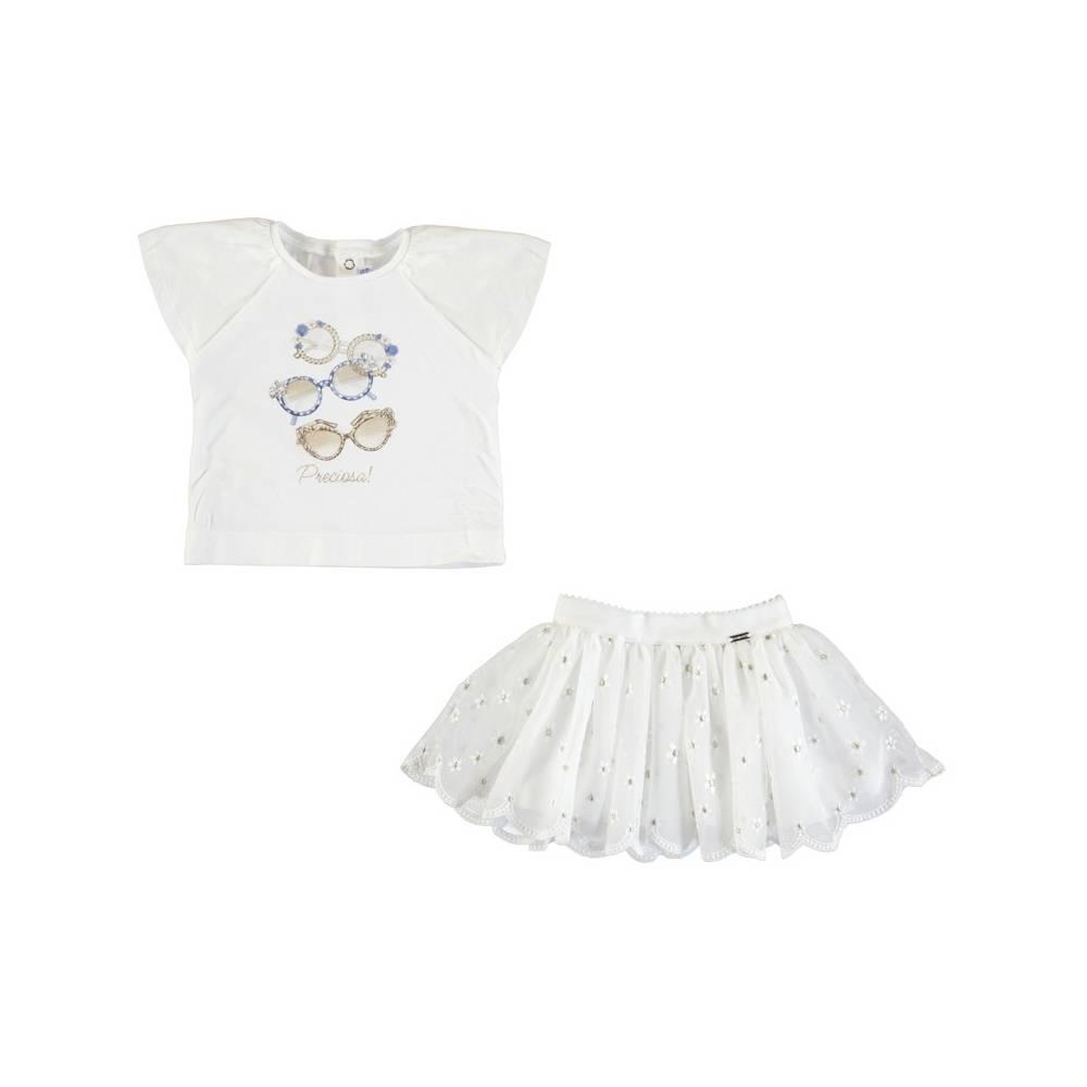 Conjunto - Conjunto falda tul bordado